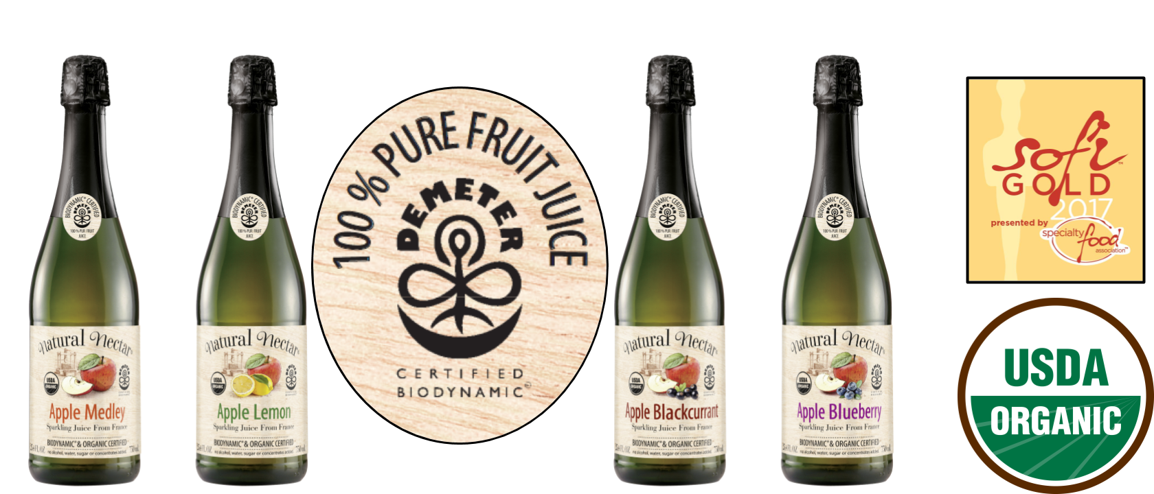 Biodynamic Sparkling Juices