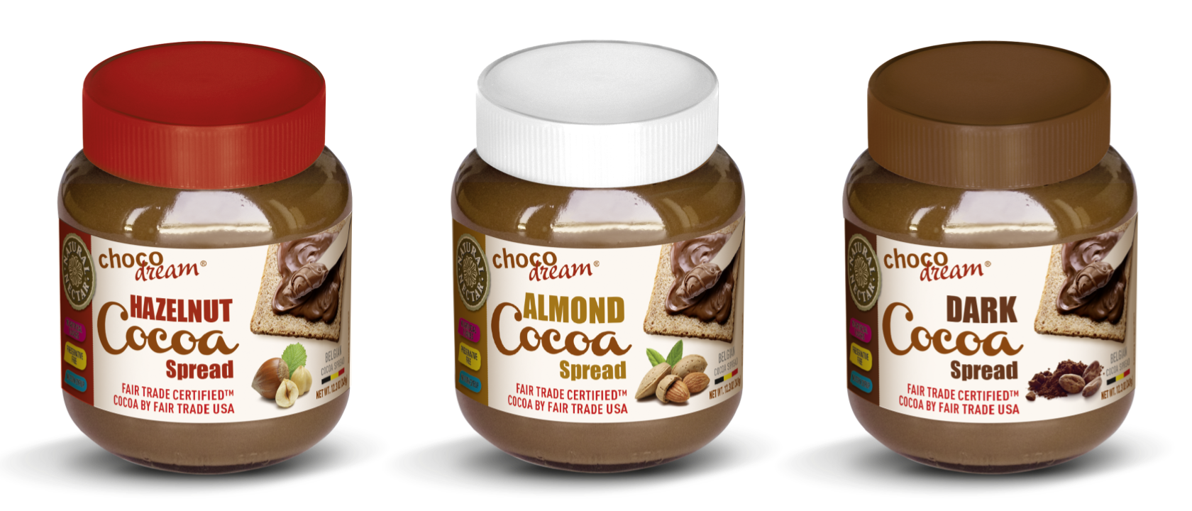 ChocoDream FairTrade Spreads
