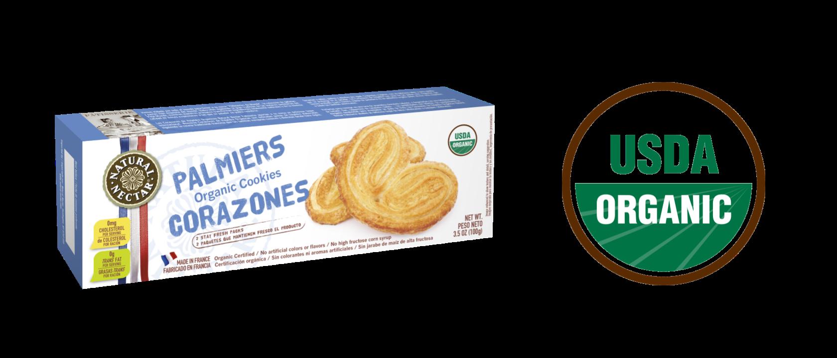 Organic Palmiers Cookies